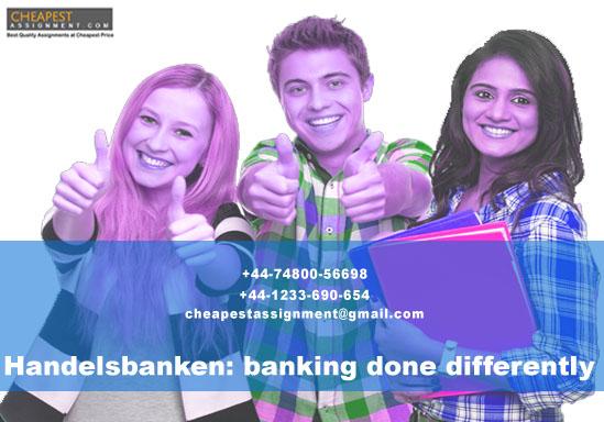 Handelsbanken: banking done differently