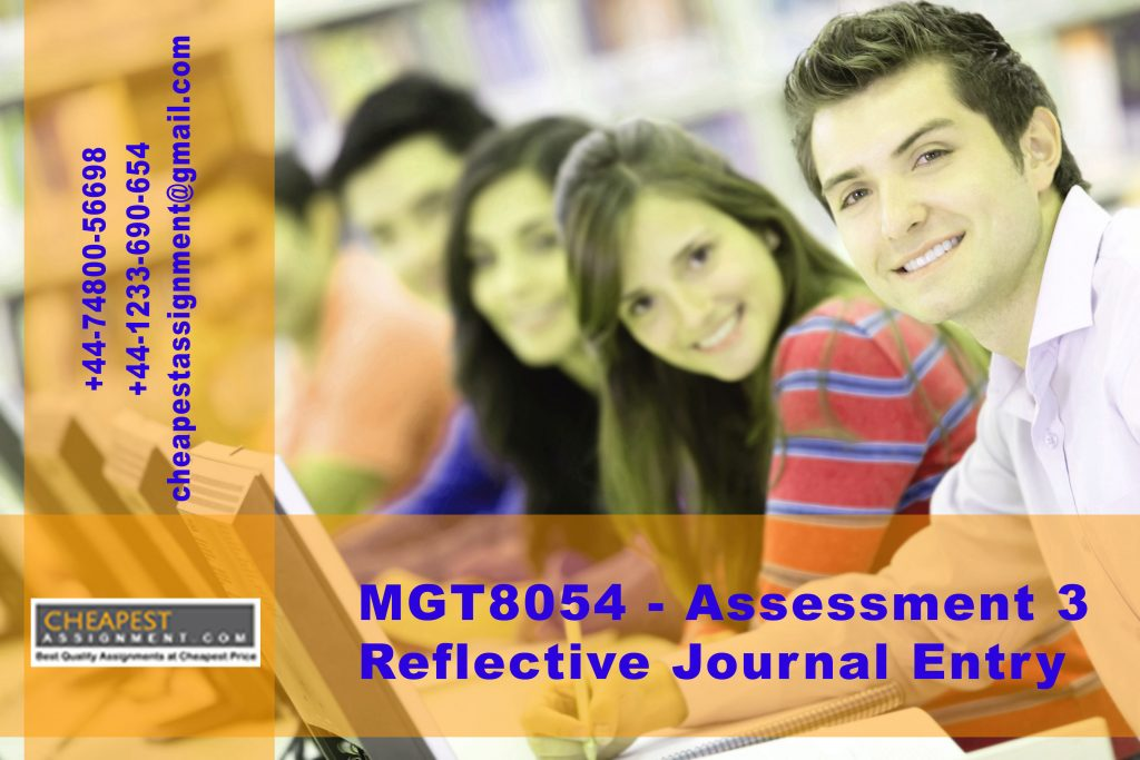 MGT8054 - Assessment 3:  Reflective Journal Entry