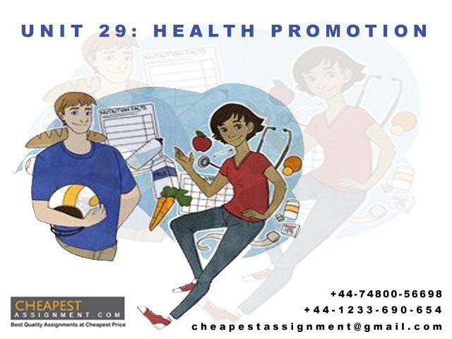 Unit 29 Health Promotion