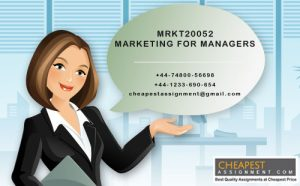 MRKT20052 Marketing for managers