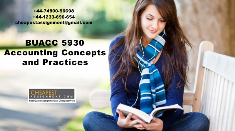 BUACC 5930, Accounting Concepts and Practices