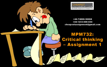MPM732: Critical thinking – Assignment 1