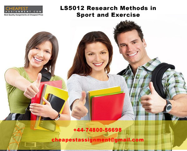LS5012 Research Methods in Sport and Exercise