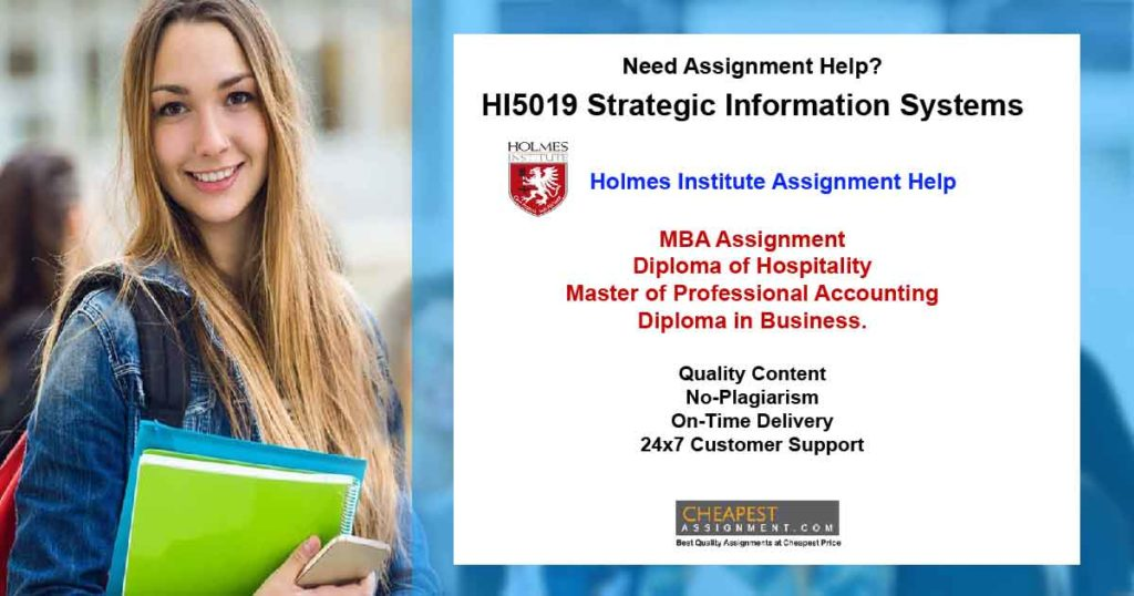 HI5019 Strategic Information Systems Assignment 1