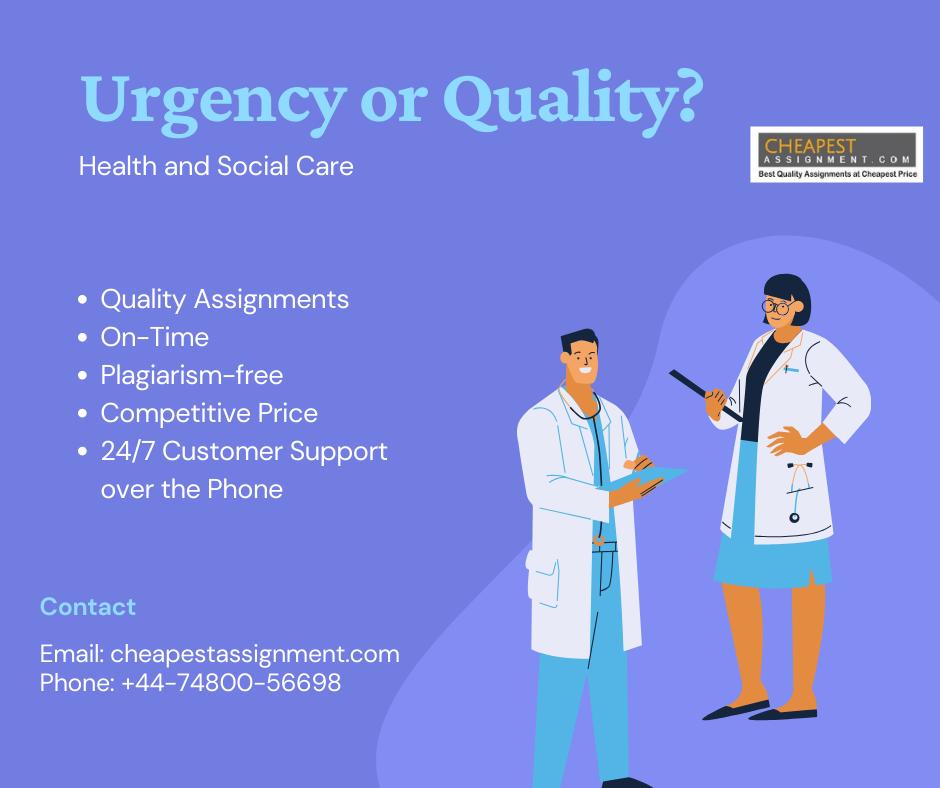 Health and Social Care - Urgency or Quality?